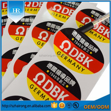 custom strong glue adhesive synthetic paper brand name logo sticker