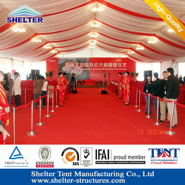 50x50m Large red white black wedding decorations tent Canopies for Sale, Marquee canopy
