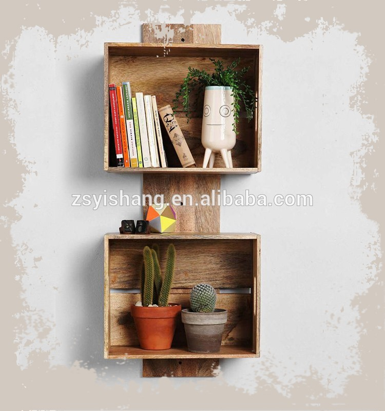 New Products Wall Mount Wooden Bookrack For Home