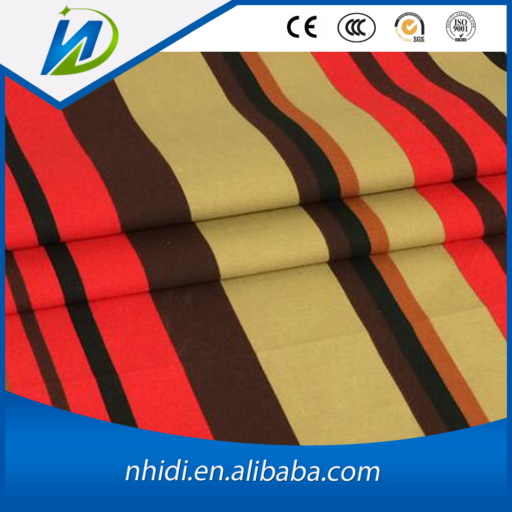 65% polyester 35% cotton striped woven tc canvas fabric for bags
