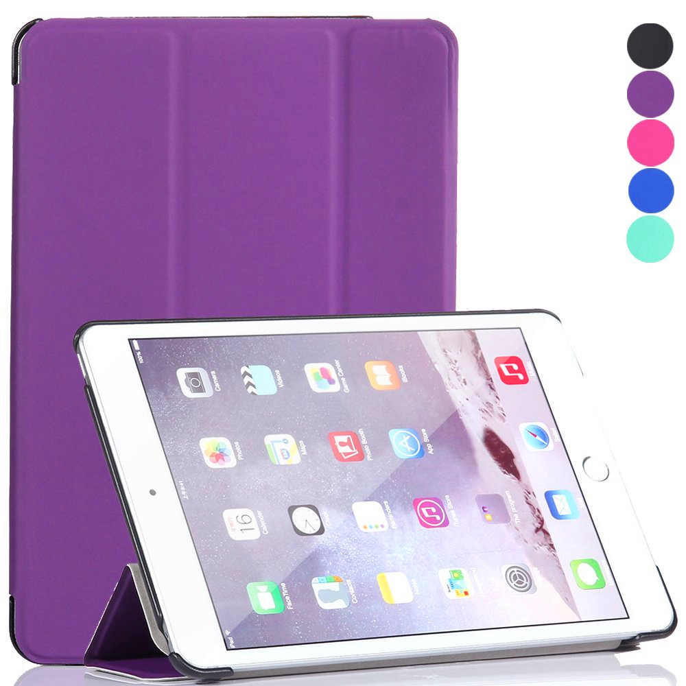 New Premium Ultra Thin Smart Cover Tri-fold PU Leather Tablet Case For <strong>iPad</strong>