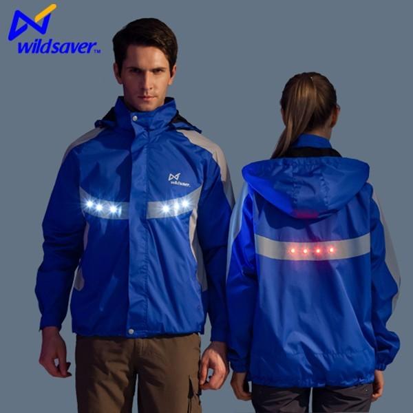 Reflective waterproof LED jacket custom for cycling clothing