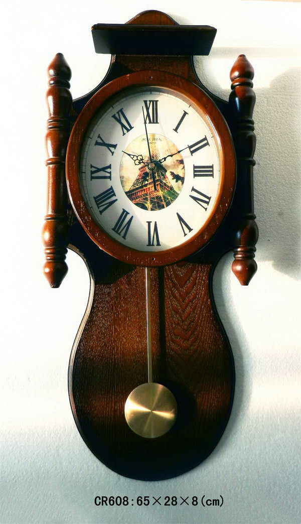 Super quality new products simple style modern home decor pendulum wooden wall clock