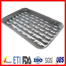 Perforated aluminum foil bbq tray