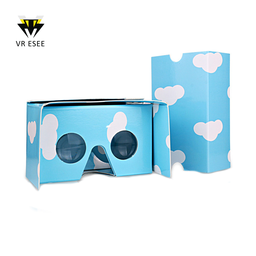 Best Selling Google Cardboard 2.0 Big Acrylic Lenses Gift Box VR Virtual Reality Goggles Die Cut Full Color Logo Print Wholesale