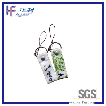 2016 friendly short pvc lanyard
