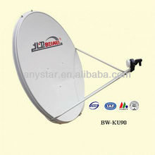 ku band 90 ground mount dish antenna for satellite TV
