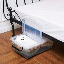 Greenside Double open lid under bed plastic storage box transparent