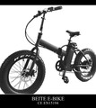 36V 350W electric folding bike with fat tire