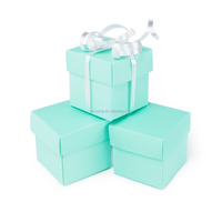 Mini Small Square Cube Robin's Egg Blue Gift Boxes with Lids for Party Favors, Decoration, Weddings, Birthdays, and more. 2 x 2