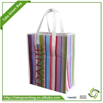 New design fashion style colorful handled pp non woven bag