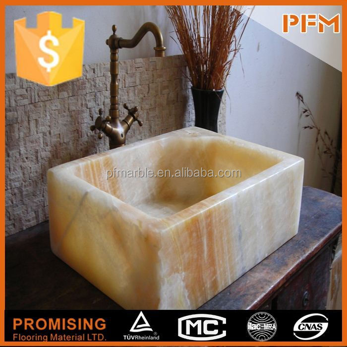 Natural stone popular style pedestal basin sink stone