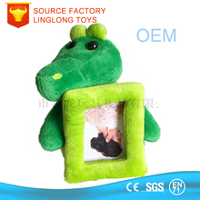 Stuffed Animals Embroidery Kid Gift Picture Frame Acrylic Photo Frame Down New Rectangle Crocodile Toy Diy Design Photo Frame