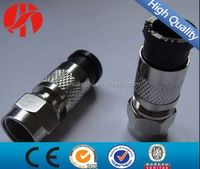 Waterproof RG59 RG6 RG11 compression F male connector