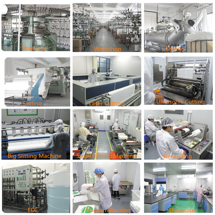 "4"" 6"" 9"" Dust-free  Electronic PCB SMT Optical Lens Microfiber Cleanroom Wiper Cloth 195gsm Cleaning Wipes"