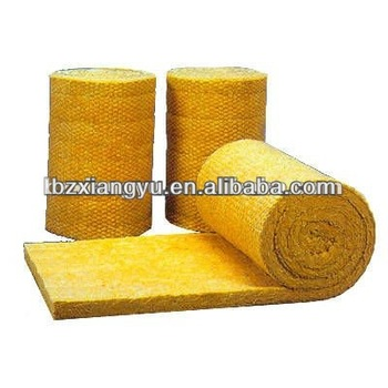 Basalt rock wool roll felt pipe board blanket heat insulation with high density and competitive for High density mineral wool