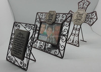classic and vintage different shape iron picture photo frame for christian gifts