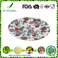 Healthy Natural Material and Biodegradable Bamboo Fiber Dinner Plate