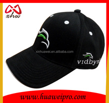100% polyester golf cap/ Black baseball sport cap /Ajustable UV golf cap