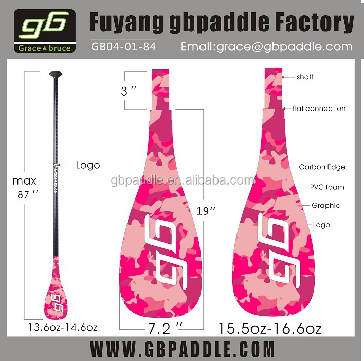high quality best sale SUP carbon inflatable and adjustable paddle board surfboard paddle