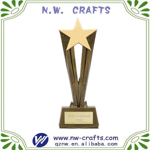 High quality collectable gold general trophies engraving for souvenir