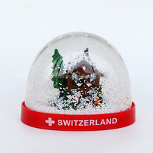 New Arrival 8cm Acrylic Swaziland Memory Photo Snow Globes
