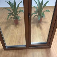 Wood grain finish aluminum window for all kinds of building