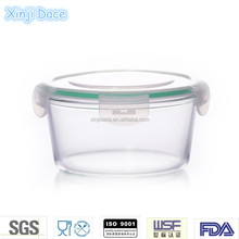 High technique commercial cooking pots cookware 800ml round glass food container