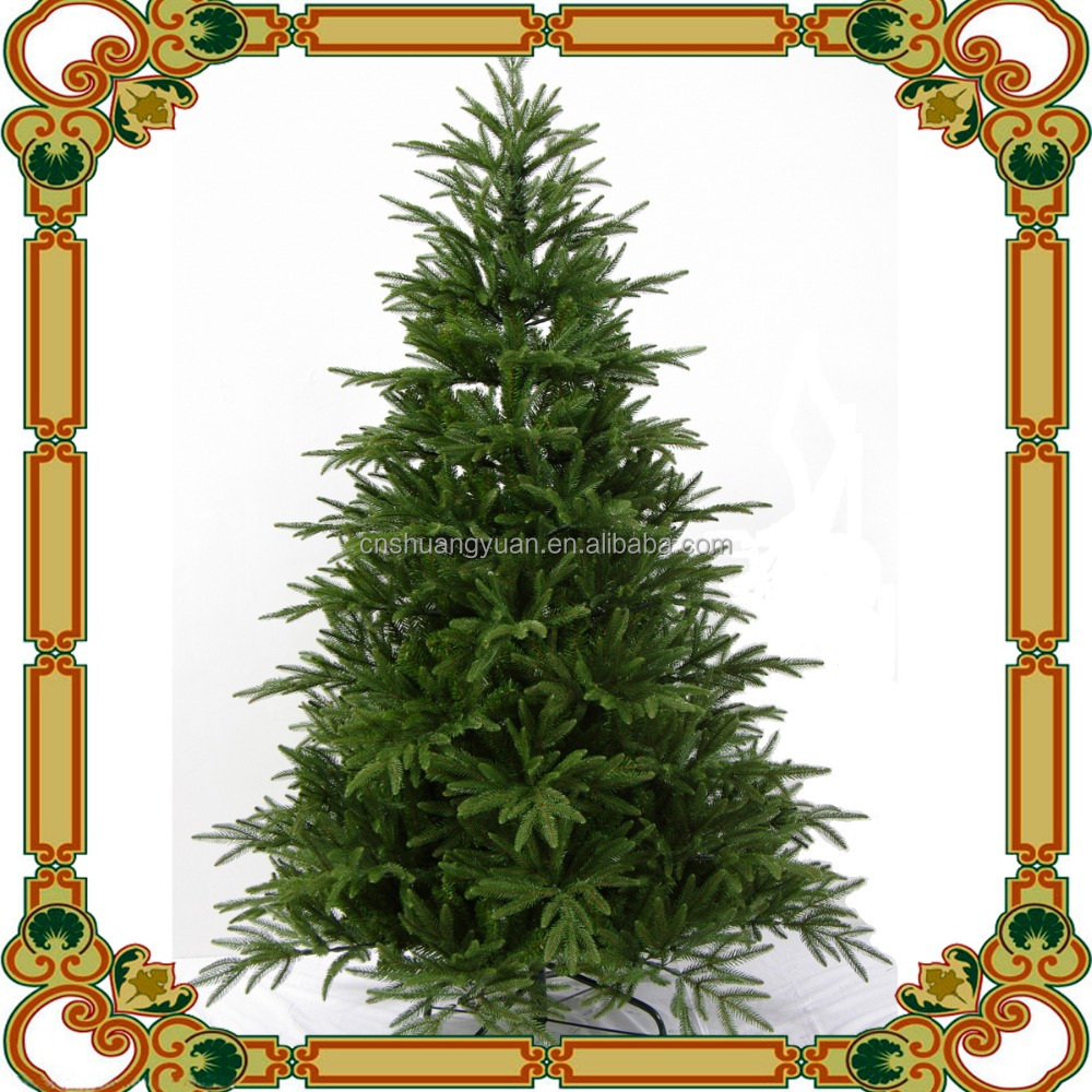 2016 newly design artificial christmas tree / fake PE tree / Snowing Pine Cone Christmas Tree