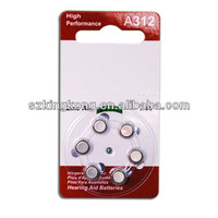 1.4v A312 button battery of deaf-aid
