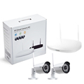 2 channel 720P Wireless Surveillance DVR kit 36 pcs IR LEDs metal housing working day & night 3.6 mm lens