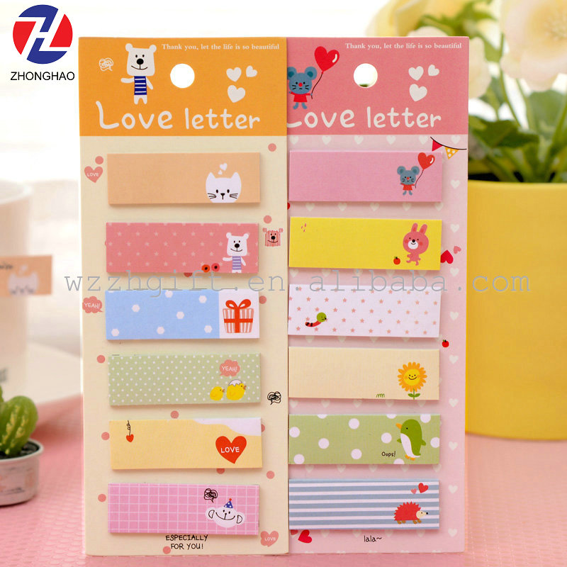 Hot sell product cute design love letter memo