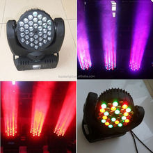 36 3w dmx 13ch rgb cobra moving head flood light stage dj led party lighting