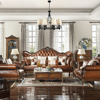 Cheap dermis leather carving couches living room furniture chesterfield sofa set for sale