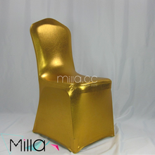Christmas metallic gold spandex chair cover