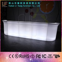 Hotsale Modern Waterproof Led PE Plastic Sraight Table Home Bar Counter furniture restaurant counters for sale