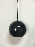 Garden decor hanging ball glossy black color round pendant light