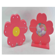 Custom new design flower shape wood picture photo frame for chlid