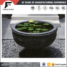 Recycle eco-friendly natural black slate stone square flower pots