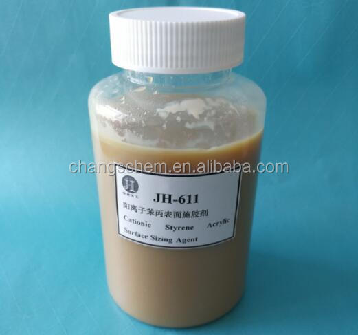 cationic styrene-acrylic acid ester emulsion (SAE) for the surface sizing of paper JH-611