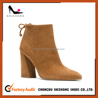 China factory wholesale high-end ankle booties for women ladies durable boots