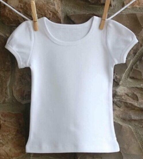 White Baby Tshirt Kids 100% Organic Cotton T-Shirts Blank Baby T-Shirts Wholesale