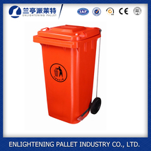 120L/240L dustbin plastic sale price plastic foot pedal trash can