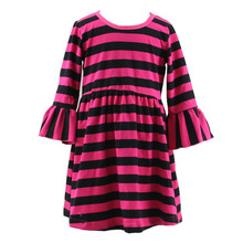 baby winter girl kids frock stripe designs pictures long party dress