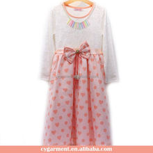 Excellent Quality Competitive Price Girl Dresses Cotton Long Frock Design 2017