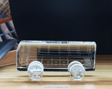 Crystal Glass Car Model Bus Toy Model for Business cooperation Gift