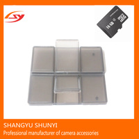 Cheap DSLR Plastic Storage Box Camera Memory Card Micro SDi Box