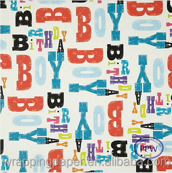 Colorful Printed Wrapping Paper For Gifts Wholesales