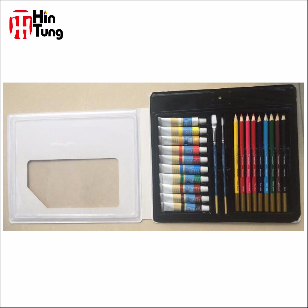 21pcs Blister Card Pack Watercolor Paint Painting Art set