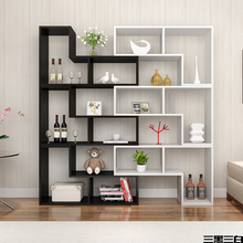 Home used modern style wooden free combination bookcase and book <strong>shelves</strong>